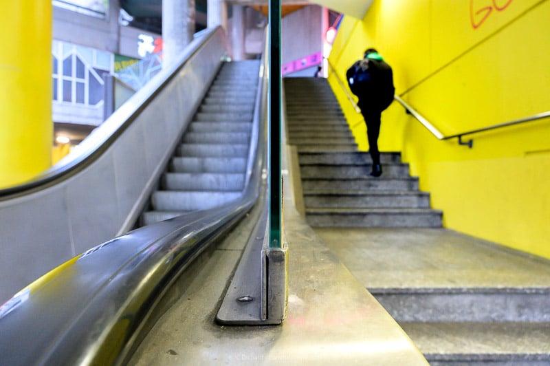 Escalier roulant - Ivry sur Seine - photo JC Dichant