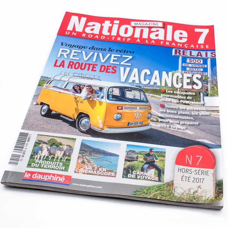 roadtrip RN7 publié dans Nationale 7 Magazine