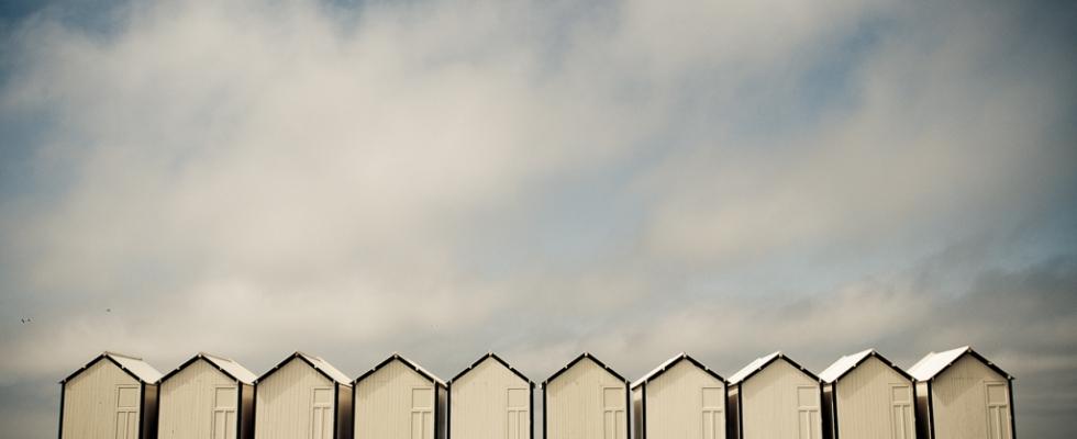 Cabines de plage à Cayeux