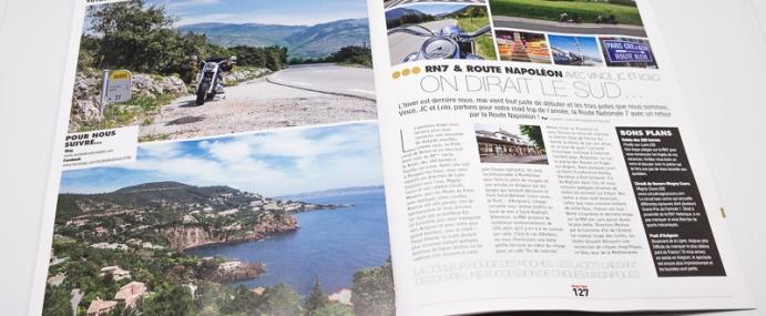 Route Nationale 7 à moto, publication Presse Road Trip Magazine