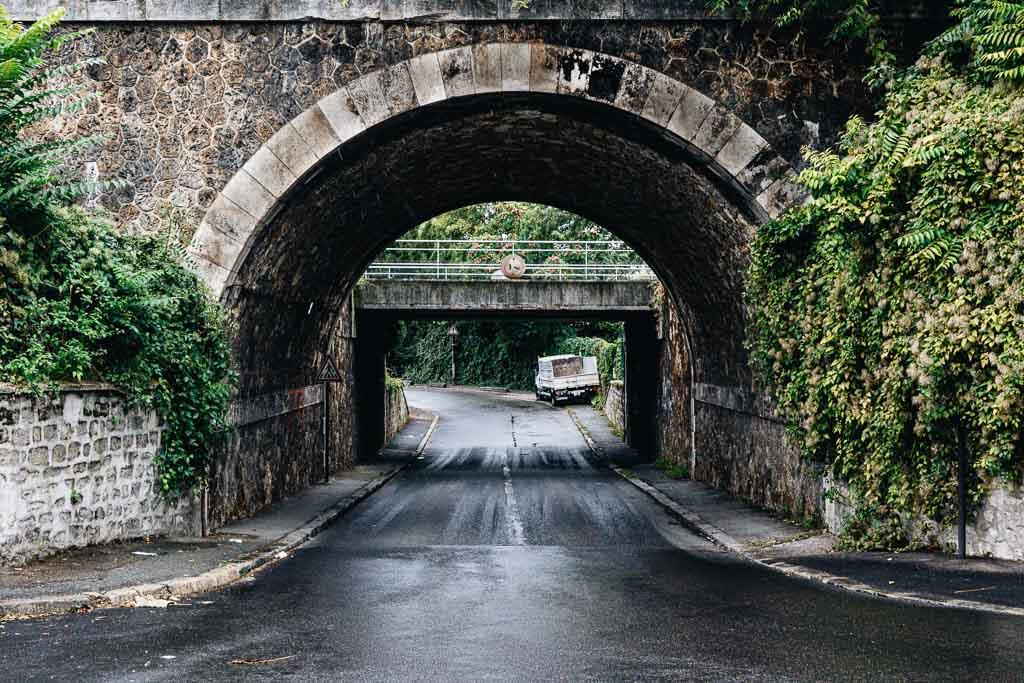 Pont tunnel entre Ivry et Vitry sur Seine - rue d'Ivry