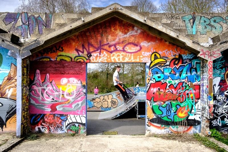 Le Skatepark de Vitry sur Seine à l'emplacement des anciennes pépinières Ponthieu