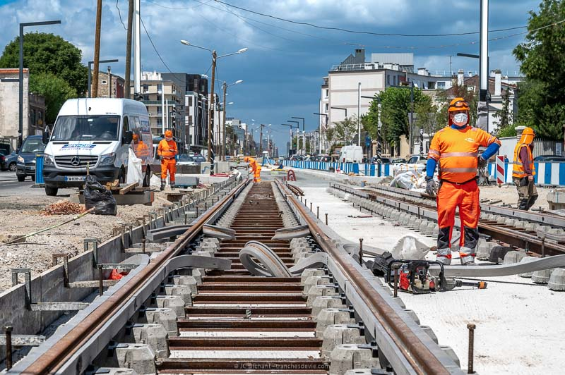 Travaux tram Vitry sur Seine - 28/52 - Construire - Vitry sur Seine