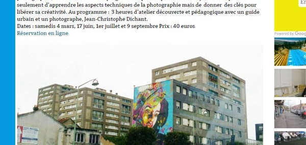 Workshops Photographie Street Art à Vitry sur Seine : ils en parlent …